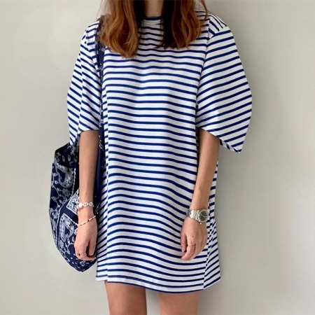 Stripe Puff Dress