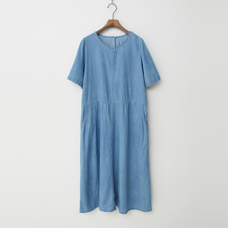 Summer Denim Long Dress