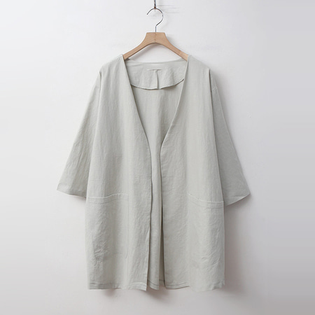 Linen Cotton Open Jacket