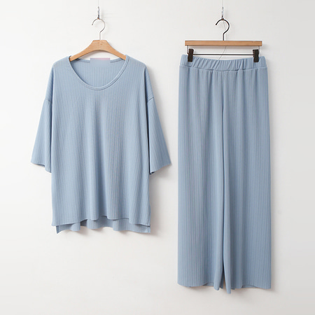 [SET] Easy Tee + Wide Pants