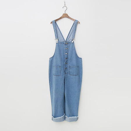 Summer Denim Button Overalls