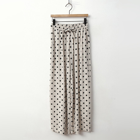 Linen Dot Wide Pants