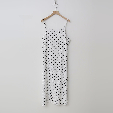 Linen Dot Cami Long Dress