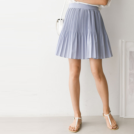 Pleats Mini Skirt