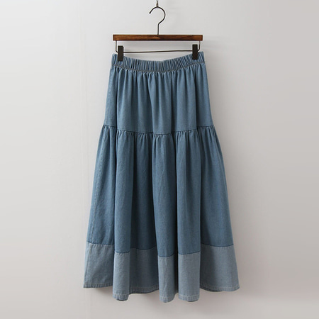 Cancan Denim Long Skirt