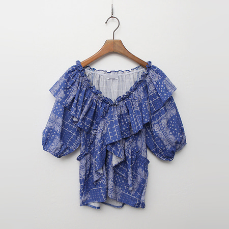 Paisley Frill Blouse