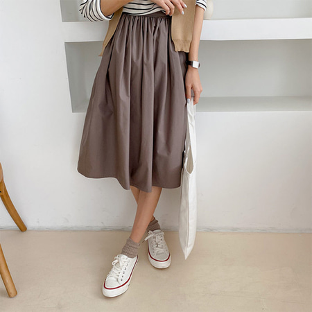 Autumn Cotton Full Skirt