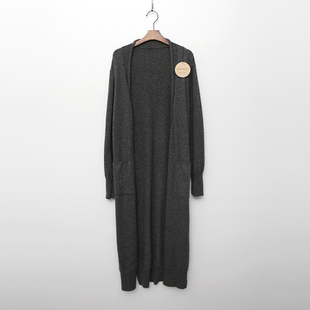 Alpaca Wool Pocket Long Cardigan
