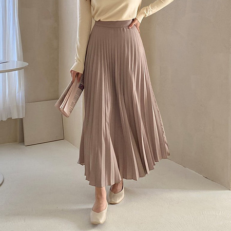 Tessa Pleat Long Skirt