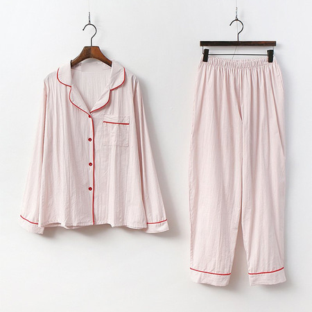 Rich Stripe Pajama Set - 커플룩