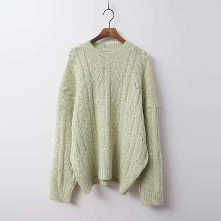 Alpaca Wool Twist Round Sweater