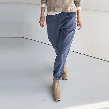 Gimo Corduroy Semi Baggy Pants - 기모안감