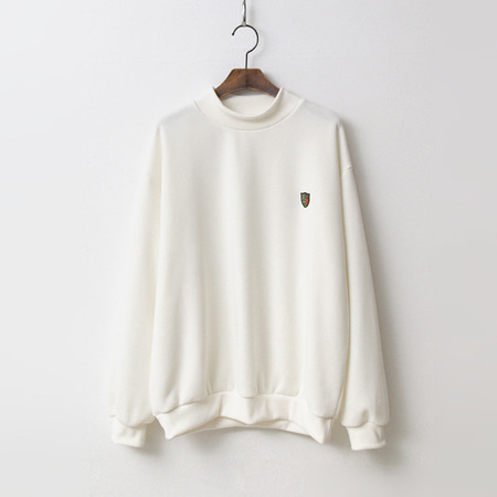 Gimo Half Neck Sweatshirt - 기모안감