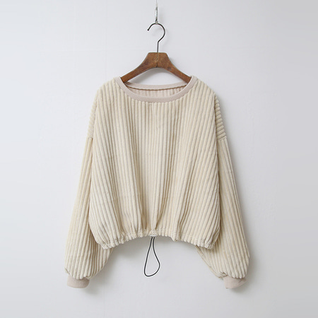 Joe Corduroy Crop Sweatshirt