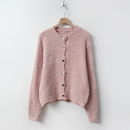 May Boucle Button Cardigan