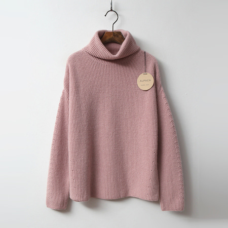 Alpaca Wool Turtleneck Sweater