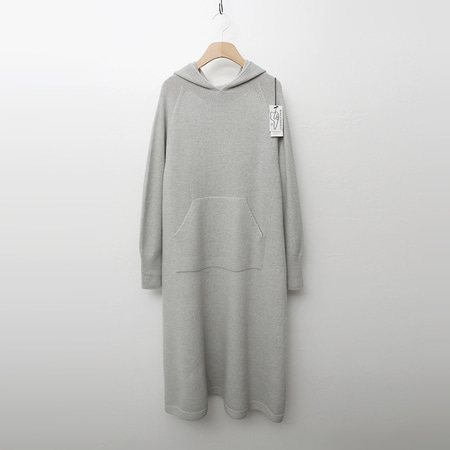 Maille Cashmere Wool Hood Long Dress