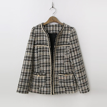 Tweed Wool Puff Jacket