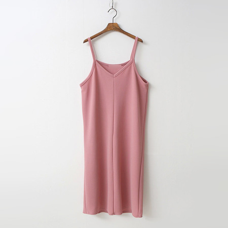 Mu V-Neck Cami Long Dress