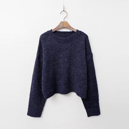 Wool Boucle Crop Sweater