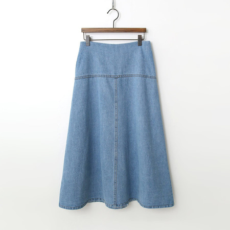 A-Line Denim Long Skirt
