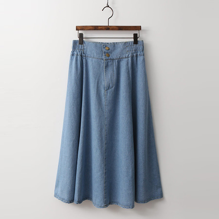 Gea Full Denim Skirt