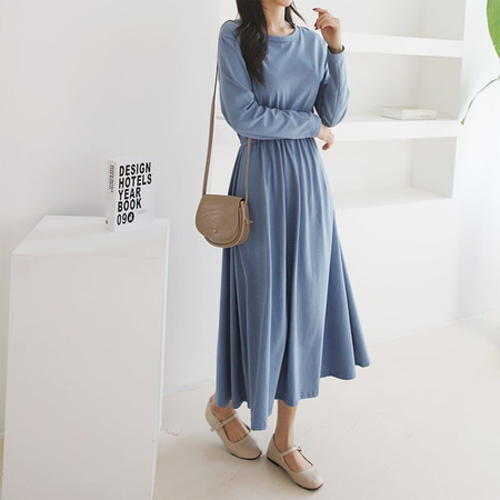 Cotton Fit N Flare Long Dress