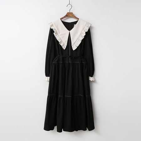 Frill Sailor Cancan Long Dress