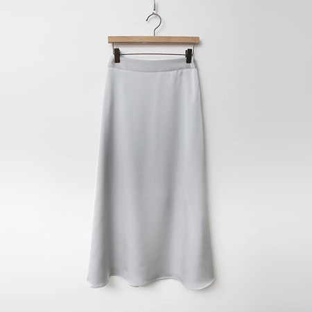 Satin Flare Long Skirt