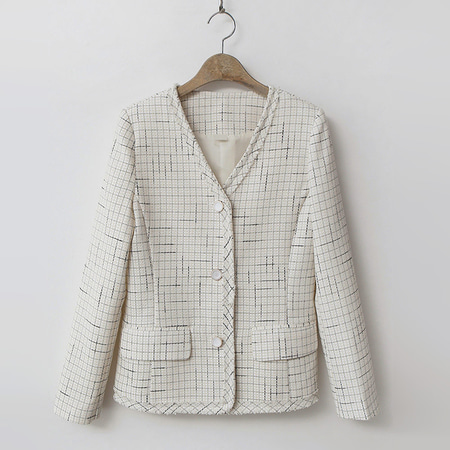 Tweed Button Jacket