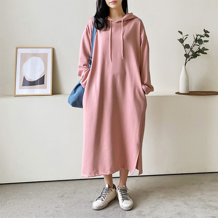 Spring Hooded Long Dress