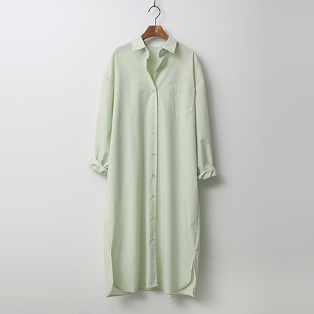 Cotton Wrap Shirts Long Dress