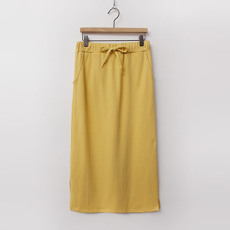 Cotton Easy Long Skirt