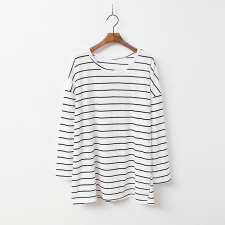 Stripe Boxy Long Tee