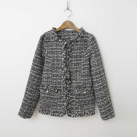 Tweed Puff Jacket