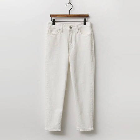 Latte Crop Straight Jeans
