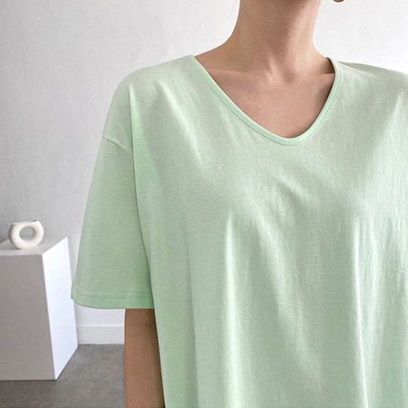 Bio Cotton U-Neck Tee