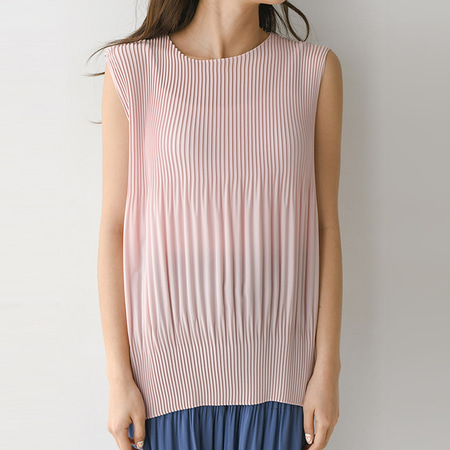 Pleats Coccon Blouse - 민소매
