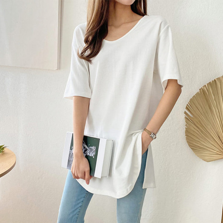 Loose Slit Long Tee