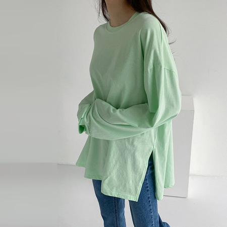 Silky Slit Long Tee
