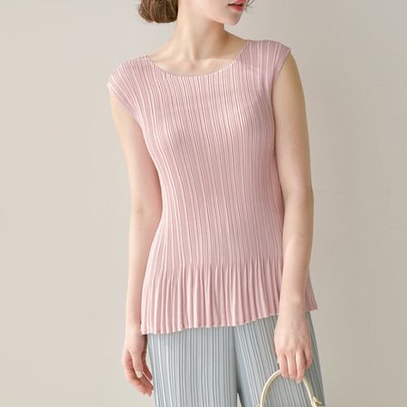Pleats Nana Frill Blouse - 민소매