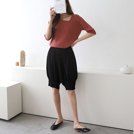 Linen Wool Aladin Knit Shorts