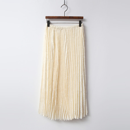 Lace Pleated Long Skirt