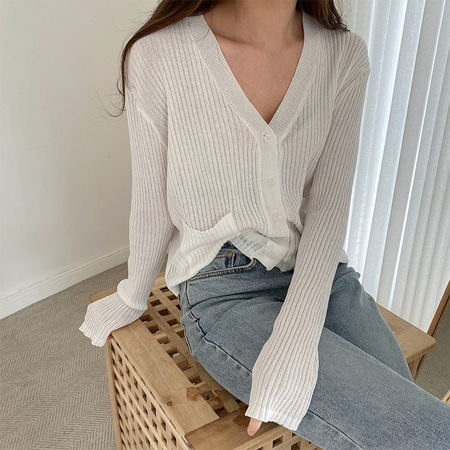 Pocket Mini Knit Cardigan