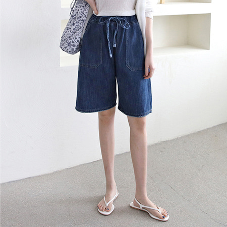 Indigo Denim Bermuda Shorts