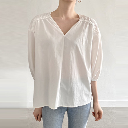 Delia V-Neck Blouse