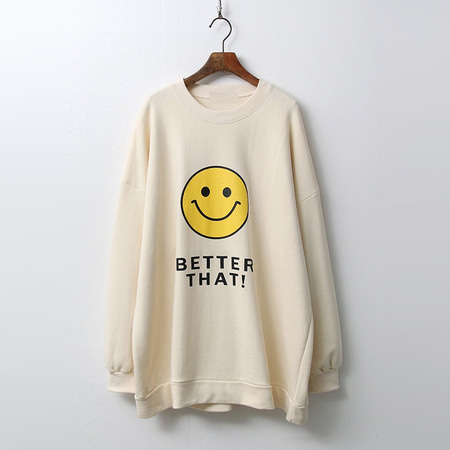 Smile Boxy Sweatshirt