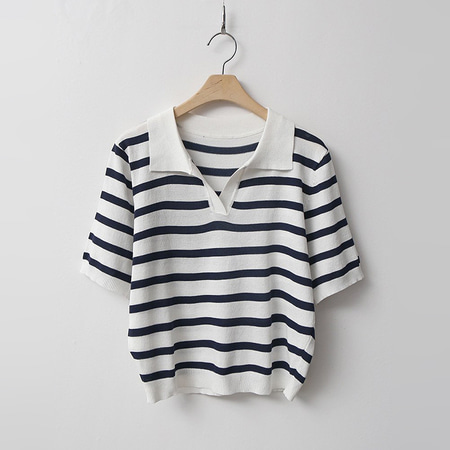 Marin Stripe Collar Knit