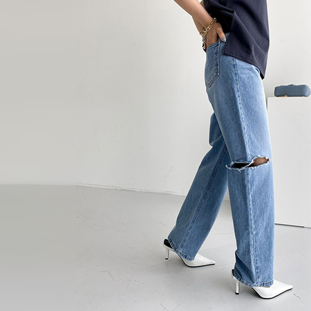 Right Cut Semi Wide Jeans