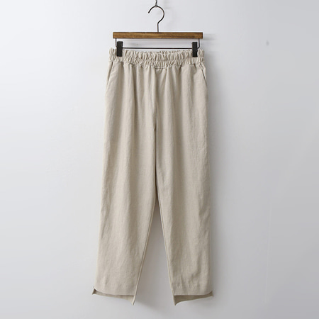 Linen Tape Semi Baggy Pants